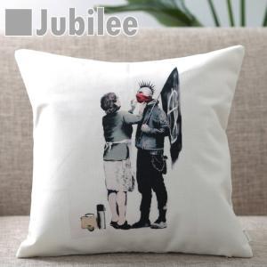 バンクシー クッションカバー 45×45cm PUNK MUM Jubilee London