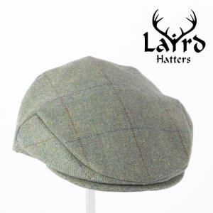Laird Hatters メンズ キャスケット 英国製 ハンチング ウール ツイード ハンチング帽 レアードハッター Flat Cap Tweed フォレスト|ukclozest