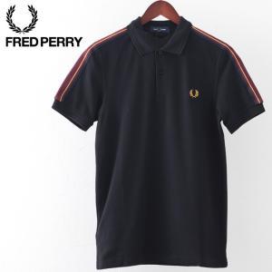 フレッドペリー メンズ ポロシャツ ポロ Fred Perry テープショルダー ブラック スポーツ...