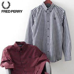 フレッドペリー メンズ 長袖シャツ Fred Perry ギンガムチェック 2色 ポート スノーホワイト 正規販売店 ukclozest