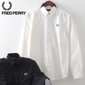フレッドペリー メンズ 長袖シャツ Fred Perry フラット ニット カラー 襟ニット 2色 ブラック スノーホワイト プレッピー ukclozest