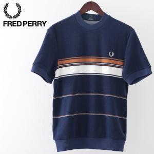 フレッドペリー メンズ Tシャツ Fred Perry リイシュー ストライプ タオリング フレンチ...