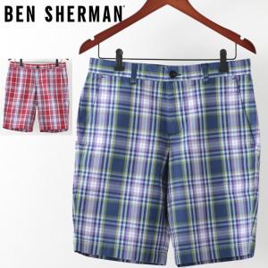 ベンシャーマン メンズ ハーフパンツ Ben Sherman テーラード ショーツ 短パン オーバーサイズ チェック|ukclozest