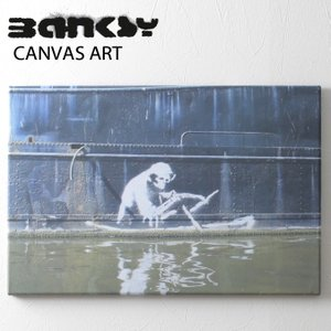 BANKSY CANVAS ART バンクシー キャンバスアート 60.5cm×40.5cm×2cm...