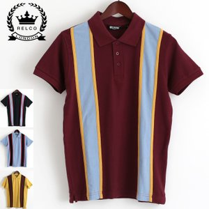 RELCO メンズ ポロシャツ レルコ ポロ レトロストライプ 4色 モッズファッション ukclozest