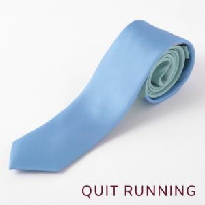 Quit Running クイトランニング シルクネクタイ ハンドメイド 英国ブランド ツートン ミント × パステルブルー|ukclozest