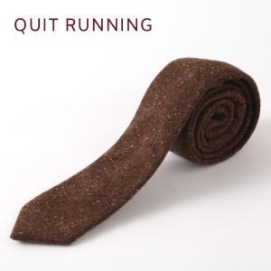 Quit Running クイトランニング ハンドメイド ツイード ウールタイ 英国ブランド ブラウン ドニゴール|ukclozest