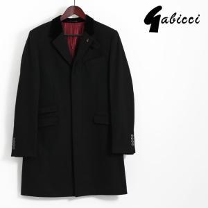Gabicci ガビッチ ビンテージ テーラード クロンビー コート レトロ ブラック メルトンウール メンズ|ukclozest