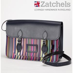 Zatchels サッチェルバッグ 16インチ 40x29x10cm 英国製 オックスフォードストライプ ukclozest