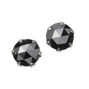 プラチナ 一粒 ブラックダイヤモンド ピアス 0.5ct ukigoods