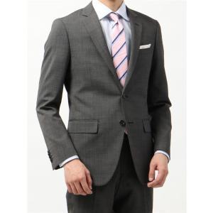 ビジネススーツ/メンズ/春夏/FIT 2つボタンスーツ マイクロパターン NR-05 ミディアムグレー×ライトグレー|uktsc