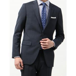 ビジネススーツ/メンズ/春夏/FIT 2つボタンスーツ マイクロパターン NR-05 ネイビー×ブルー|uktsc