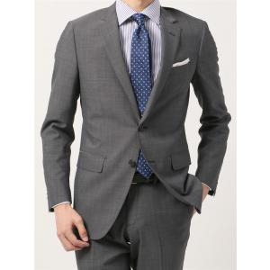 2パンツスーツ/メンズ/春夏/ツーパンツ/FIT 2つボタンスーツ マイクロパターン NR-05 ミディアムグレー×ライトグレー|uktsc
