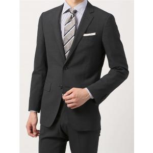 2パンツスーツ/メンズ/春夏/ツーパンツ/FIT 2つボタンスーツ マイクロパターン NR-05 チャコールグレー×ミディアムグレー|uktsc