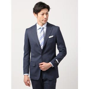 ビジネススーツ/メンズ/通年/BASIC 3つボタンスーツ マイクロパターン TR-12 ライトネイビー×ブルー|uktsc
