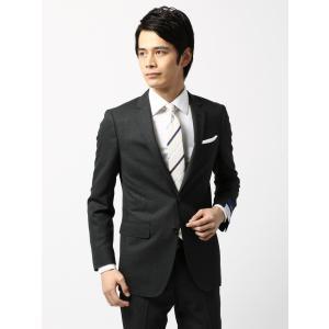 スーツ/メンズ/通年/ウォッシャブル/アドバンス 2つボタンスーツ チェック NR-04 チャコールグレー×ミディアムグレー|uktsc