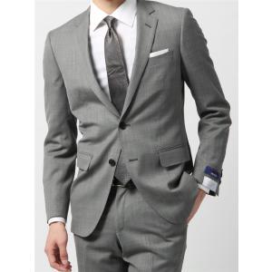 スーツ/メンズ/通年/ウォッシャブル/アドバンス 2つボタンスーツ マイクロパターン NR-04 ライトグレー×チャコールグレー|uktsc