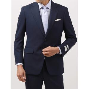 ビジネススーツ/メンズ/通年/BASIC 2つボタンスーツ マイクロパターン IZ-01 ネイビー×...