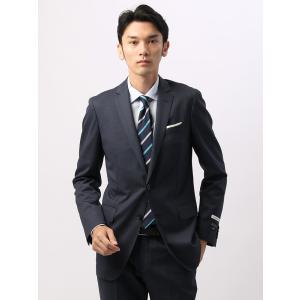 ビジネススーツ/メンズ/通年/FIT/NR-05/2つボタンスーツ ハウンドトゥース ブルー