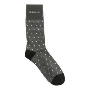ソックス/靴下/カジュアル/メンズ/フリーサイズ/ドット柄ソックス グレー×ブラック×ホワイト|uktsc