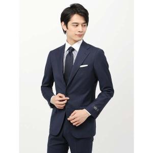 ビジネススーツ/メンズ/春夏/BASIC 3つボタンスーツ グレンチェック TR-12 ネイビー×ブラック×ブルー|uktsc