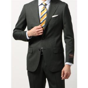 ビジネススーツ/メンズ/春夏/BASIC 3つボタンスーツ 織柄 TR-12 グリーン×ライトグレー|uktsc