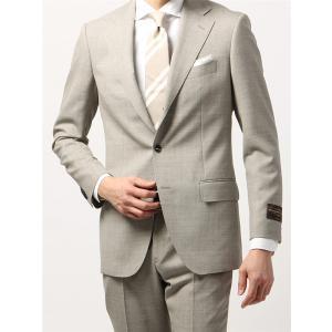 ビジネススーツ/メンズ/春夏/BASIC 3つボタンスーツ 織柄 TR-12 ベージュ×ライトグレー|uktsc