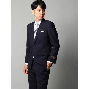ビジネススーツ/メンズ/春夏/BASIC 2つボタンスーツ シャドーチェック IZ-01 ネイビー|uktsc