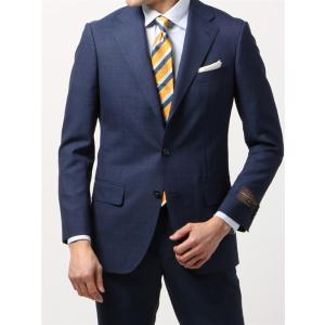 ビジネススーツ/メンズ/春夏/BASIC 3つボタンスーツ マイクロパターン TR-12 ネイビー×ブルー|uktsc