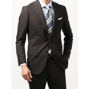 ビジネススーツ/メンズ/春夏/BASIC 3つボタンスーツ マイクロパターン TR-12 ブラウン×ベージュ|uktsc