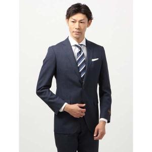 ビジネススーツ/メンズ/春夏/FIT 2つボタンスーツ マイクロチェック NR-05 ブルー×ブラック|uktsc
