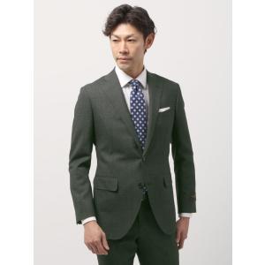 ビジネススーツ/メンズ/春夏/FIT 2つボタンスーツ ハウンドトゥース CH-14 カーキ×ブラック|uktsc