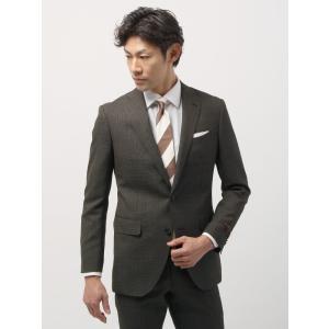 ビジネススーツ/メンズ/春夏/FIT 2つボタンスーツ ハウンドトゥース CH-14 ブラウン×ブラック|uktsc