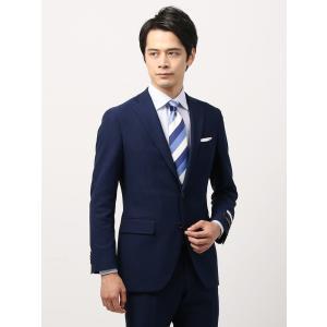 ビジネススーツ/メンズ/通年/TOUGH MAX/FIT 2つボタンスーツ マイクロパターン CH-14 ブルー×ネイビー|uktsc
