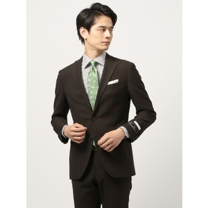 ビジネススーツ/メンズ/通年/TOUGH MAX/FIT 2つボタンスーツ マイクロパターン CH-14 ブラウン×ブラック|uktsc
