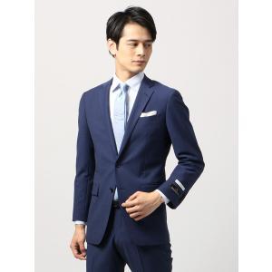 ビジネススーツ/メンズ/通年/TOUGH MAX/FIT 2つボタンスーツ シャドーストライプ NR-05 ブルー|uktsc