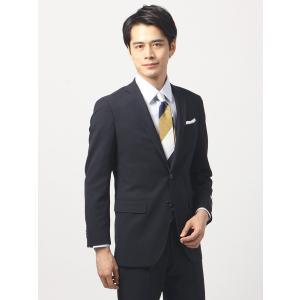 ビジネススーツ/メンズ/通年/TOUGH MAX/FIT 2つボタンスーツ シャドーストライプ NR-05 ネイビー|uktsc
