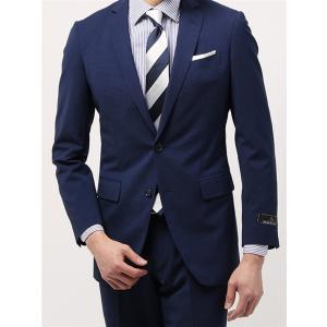 ビジネススーツ/メンズ/春夏/TOUGH MAX/FIT 2つボタンスーツ マイクロパターン NR-05 ライトネイビー×ブルー|uktsc