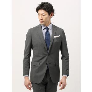 ビジネススーツ/メンズ/春夏/TOUGH MAX/FIT 2つボタンスーツ マイクロパターン NR-05 ミディアムグレー×チャコールグレー|uktsc