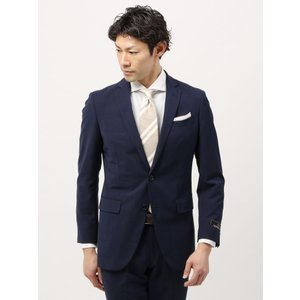 ビジネススーツ/メンズ/春夏/TOUGH MAX/FIT 2つボタンスーツ マイクロパターン NR-05 ネイビー×ブルー|uktsc
