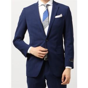 ビジネススーツ/メンズ/春夏/TOUGH MAX/FIT 2つボタンスーツ マイクロチェック NR-05 ライトネイビー×ブルー|uktsc