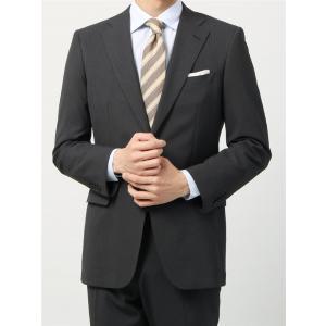 ビジネススーツ/メンズ/通年/ウォッシャブル/BASIC 2つボタンスーツ シャドーストライプ IZ-01 ミディアムグレー|uktsc