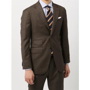 ビジネススーツ/メンズ/秋冬/FIT 2つボタンスーツ シャークスキン YC-01 ブラウン|uktsc