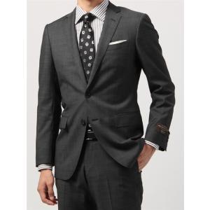 ビジネススーツ/メンズ/秋冬/FIT 2つボタンスーツ マイクロパターン NR-05 ミディアムグレー×ホワイト|uktsc