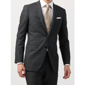 ビジネススーツ/メンズ/秋冬/FIT 2つボタンスーツ ウインドーペーン NR-05 チャコールグレー×ブラック|uktsc