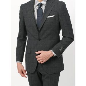 ビジネススーツ/メンズ/秋冬/BASIC 3つボタンスーツ グレンチェック TR-15 チャコールグレー×ブラック×ブルー|uktsc