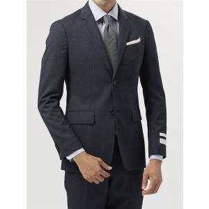 ビジネススーツ/メンズ/通年/FIT 2つボタンスーツ マイクロパターン YM-01 ネイビー×ブル...