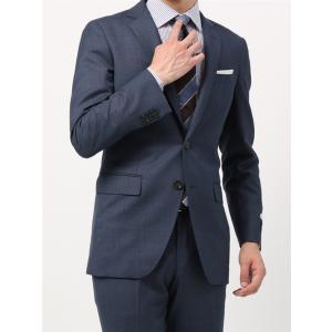 ビジネススーツ/メンズ/通年/FIT 2つボタンスーツ マイクロパターン NR-05 ブルー|uktsc
