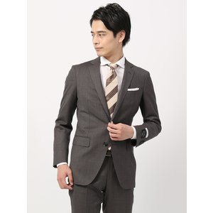 ビジネススーツ/メンズ/通年/FIT 2つボタンスーツ マイクロパターン NR-05 ブラウン|uktsc