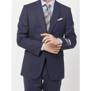 2パンツスーツ/メンズ/通年/ツーパンツ・撥水/BASIC 2つボタンスーツ 無地 IZ-01 ブルー|uktsc